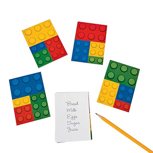 Fun Express Color Brick Party Notepads - 24 Count -