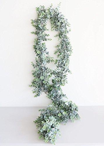 Artificial Frosted Eucalyptus Garland - 8' Long (Silk Eucalyptus)