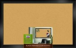 The Board Dudes Black Framed Cork Board 35\