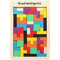 Tootpado WNTB081 Wooden Tetris Jigsaw Puzzle 40 Pcs