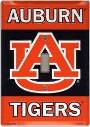 University of Auburn Tigers War Eagle Collegiate Metal Novelty Single Light Switch Cover Plate LS10046 ()