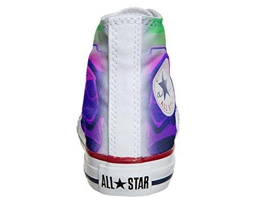 Converse All Star personalisierte Schuhe (Handwerk Produkt) mit Graffiti sfumati viola