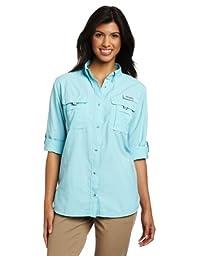 Columbia Women\'s Bahama Long Sleeve Shirt, Medium, Clear Blue