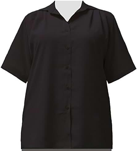 A Personal Touch Women's Plus Size Black Button-Down Tunic
