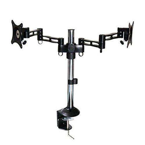 Dual LCD/LED Monitor Desk Mount Stand Adjustable Desk Mount Fits 13 to 27