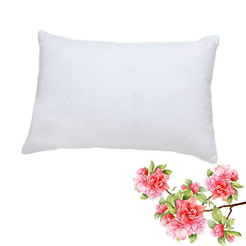 Cotton Fabric Pillow (Goose Feather Pillow King Size Bed Pillow for Sleeping (White,Firm Fill), Premium 100% Egyptian Cotton Fabric Hypoallergenic Feather Pillow (20x36 inches))