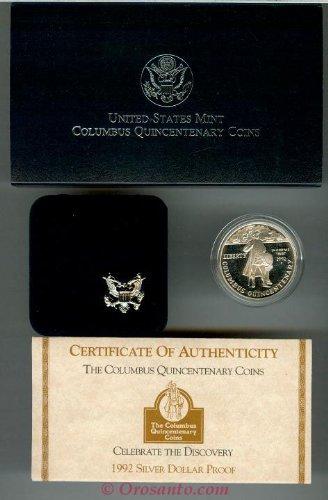Columbus Proof - 1992 P Columbus Quincentenary Proof Silver Dollar