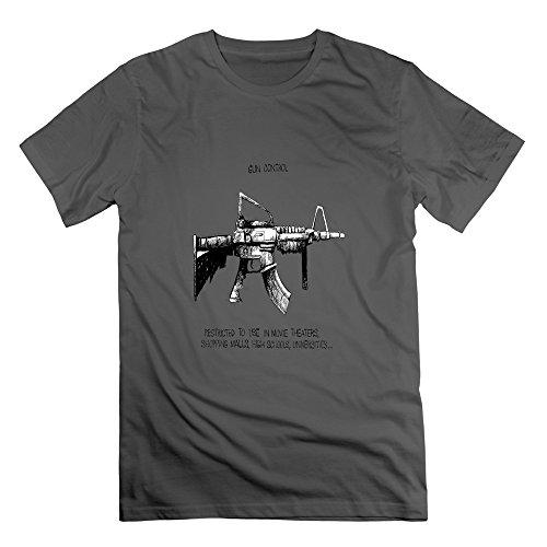 LianJian AR 15 Assault Rifle Gun Control Men's T-Shirt XX-Large DeepHeather Mens Flashlight Foregrip Mount