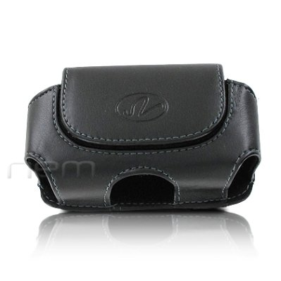 Black Color Horizontal Leather Cover Belt Clip Side Case Pouch For Samsung MyShot 2 II SCH-R460 (Cases Protective R460)