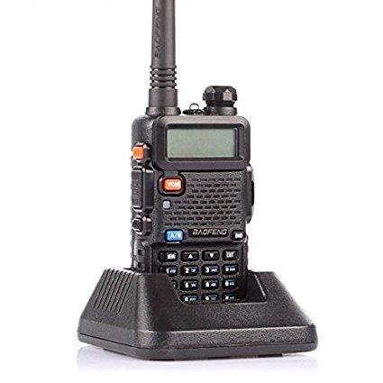 BaoFeng UV-5R Dual Band Two Way Radio Ham handheld Walkie Talkie UHF//VHF 136-174//400-480Mhz 128 Channels Black 4332978912