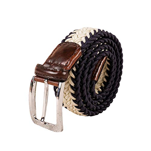 Braided Canvas Woven Elastic Stretch Belts Men/Women/Junior Inlay MultiColor Options