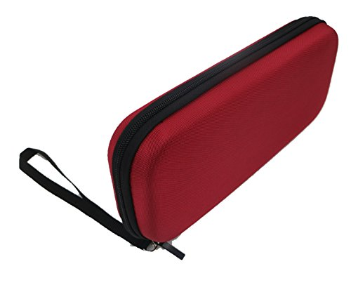 NEXiLUX EVA Carry bag with 16 game cartridge slots + accessory compartment for Nintendo Switch – RED