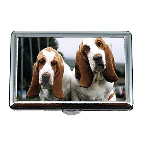 Cigarette Case Lightweight,English Bulldog Basset Hound,Credit Card Holders Case