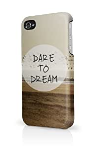 Dare To Dream Quote Birds iPhone 5 Case - Fits iPhone 5 Full Print Plastic Snap On Case