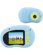 Diyeeni Mini Camara Camara HD da 2.0 Pollici, videocamera Digitale per Bambini, Fotocamera da 8 MP con Custodia in Silicone Morbida e Cordino Anti-Perso(Blu)