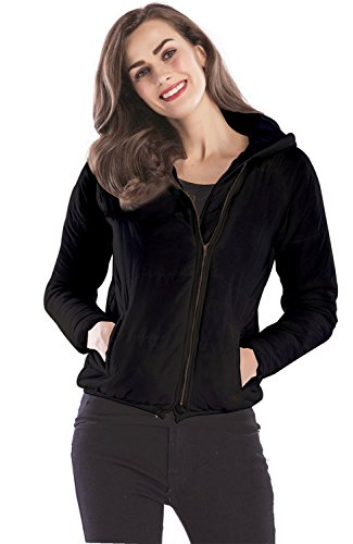 Zipper Hoodie Jacket Coat Black Padded Long SZIVYSHI Warm Hooded Hood Zip up Top Front Sleeve Quilted Zippered Puffer 6EqSxqw8