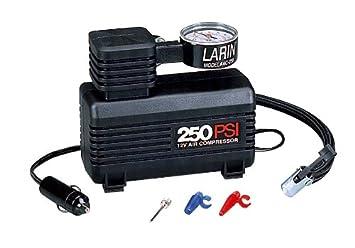 Larin (ac-250) 12 V 250 PSI compresor de aire con manómetro: Amazon.es: Coche y moto