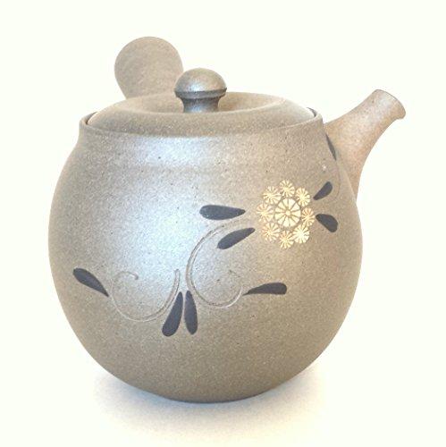 Japanese Teapot Kyusu Tokoname / Potter: Yutaka Tsuzuki / Tou-ami (Clay Mesh) / 300ml (10.1 Fl Oz)