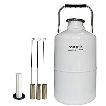 HUKOER Contenedor criogénico Nitrógeno líquido LN2 Tanque Dewar ...