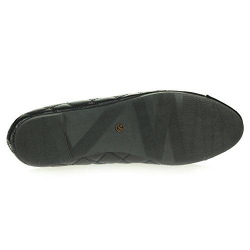 Mujer Señoras Cada día Casual Confort Ponerse Bailarinas Zapatillas Ballet Tacón Planos Zapatos Tamaño Negro