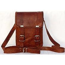 """Valentine gift,Thanksgiving,Christmas, Halloween,Birthday,Holidays Deals 11"" Inch Mens Leather Messenger Briefcase Laptop Satchel Mens Crossbody Bag"