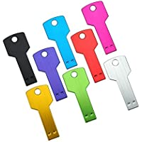 CaseBuy 8pcs 8GB 8G Metal Key Shaped Portable USB 2.0 Flash Memory Drive - 8 Colors
