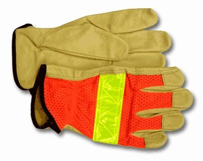 Hi Viz Traffic / Construction Glove - HI-VIZ TRAFFIC / CONSTRUCTION GLOVE-X-LARGE