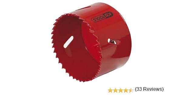 KS Tools 129.5092 Corona perforadora de bimetal de HSS (Ø 92 mm ...