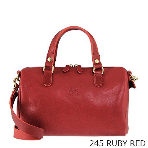 (イルビゾンテ) IL BISONTE レディース 2WAY ハンドバッグ COWHIDE BAULETTO BAG A2327P [並行輸入品] B07CKXXFDQ 245 RUBY RED 245 RUBY RED