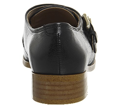 Leather Office Shoes Monk Groucho Black Fader waqRzPX