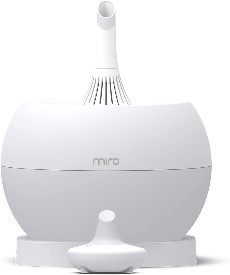 Miro NR07G humidifier – Completely Washable Modular Humidifier, Easy to Clean, Easy to Use, Large Room – Cool Mist, Sanitary, Top-Fill Ultrasonic Humidifier with Whisper Quiet and Powerful Output