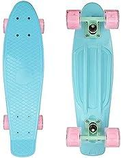 "Complete 22"" Cruiser Skateboard Plastic Banana Board/Standard Skateboards 31""x8""with 7 Lays Maple Deck Pro Skateboards"