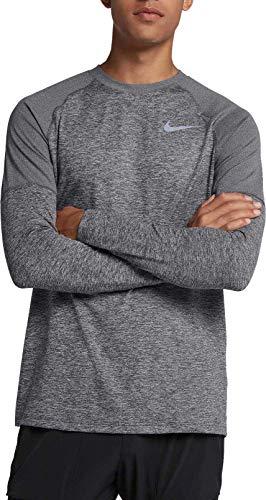 Crew M scuro a lunghe T uomo Elmnt Nk maniche da Grigio Nike htr shirt 7SqwXw8