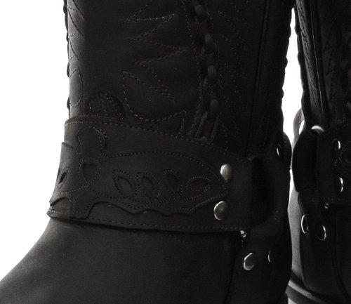 Mens Cowboy Galveston Grinders Biker Boots 5wHB4x0qP