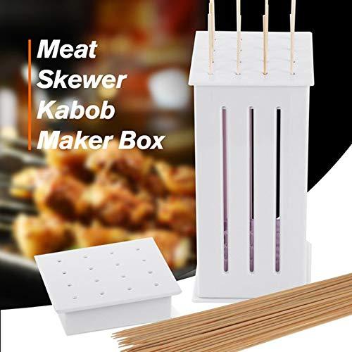 Shoppy Star 16 Hole Serial Carne spiedo per Barbecue Spiedino griglia Barbecue Utensili da Cucina in bambù Accessoires Gereedschap Party all' Aperto di Kebab Maker
