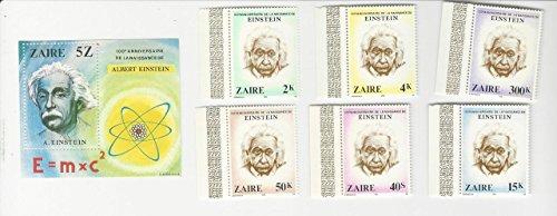 (Zaire, Postage Stamp, 953-959 Mint NH, 1980 Albert Einstein)
