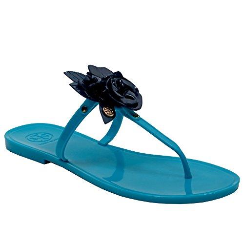 Tory Burch Blossom Infradito Sandalo Infradito Blu Brillante