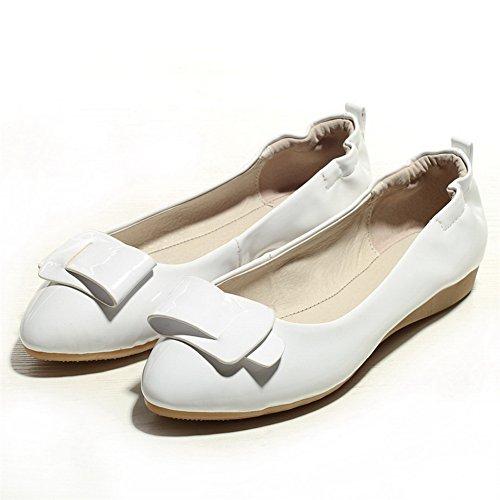 Balamasa Meisjes Puntige Teen Pull-on Laklederen Pumps-schoenen Wit