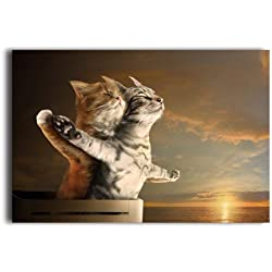 "Funny Romantic Cat Poster - You Jump, I Jump Design Love Art Print Decorative Paper 20"" x 30"""