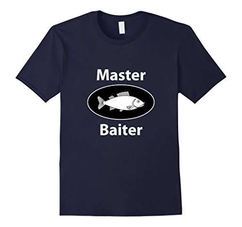 Mens Master Baiter Fishing T-Shirt Fisherman Tackle Box H...