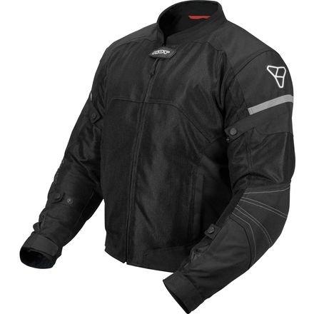 Pilot Motosport Men's Direct Air Mesh Motorcycle Jacket (V3) (Black, XXX-Large) ()