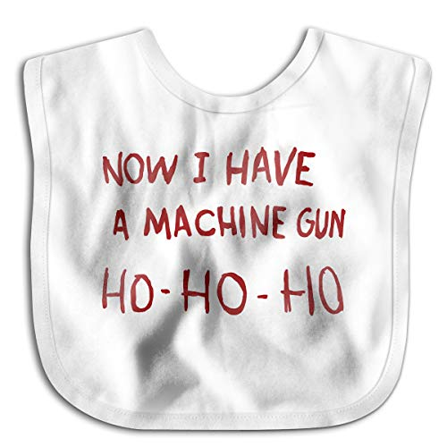 Price comparison product image Now I Have A Machine Gun HO-HO-HO Comfortable Soft Baby Bibs Baby Bandana For Drooling