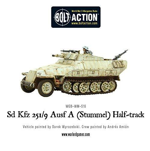Bolt Action Sd.Kfz 251//9 Ausf D Stummel Half Track 1:56 WWII Military Wargaming Plastic Model Kit