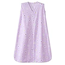 Halo Innovations Safe Dreams Wearable Blanket - Poly Knit. Pink/White Flowers Print, Medium
