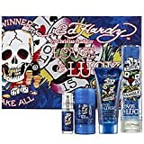 Ed Hardy Love & Luck Cologne Gift Set for Men 3.4 oz Eau De Toilette Spray