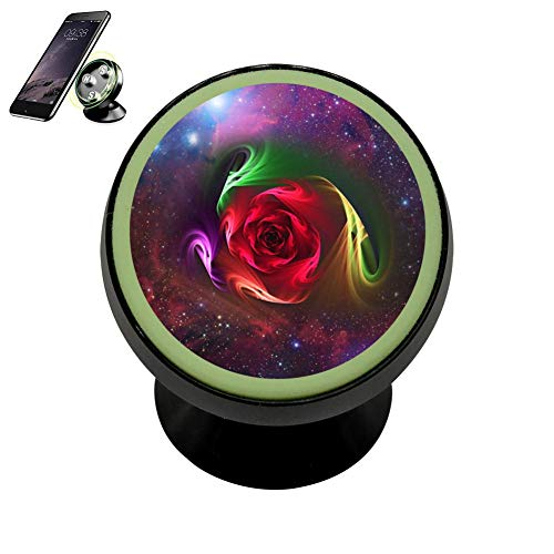 SJ Bracket Twisted Roses Safeness & Comfort Magnetic Phone Car Mount Holder Universal 360 Rotation Stand Metal Mobile Phone