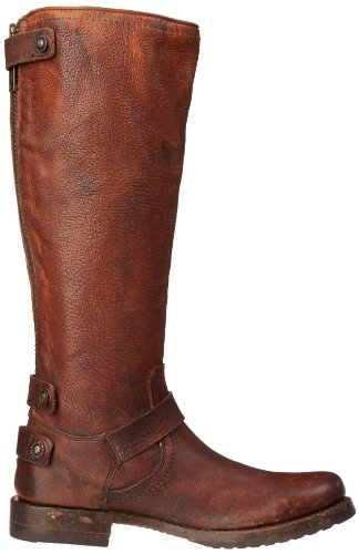 Frye Womens Veronica Back-zip Boot Cognac Steinet Antikk-77551