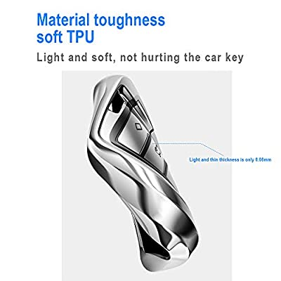 Longzheyu for Honda Key Fob Cover,Special Soft TPU Key Case Protector Compatible with Honda Civic Accord CR-V HR-V Fit Odyssey JED Crosstour Crider Honda Keyless Smart Key Cover (Blue): Automotive