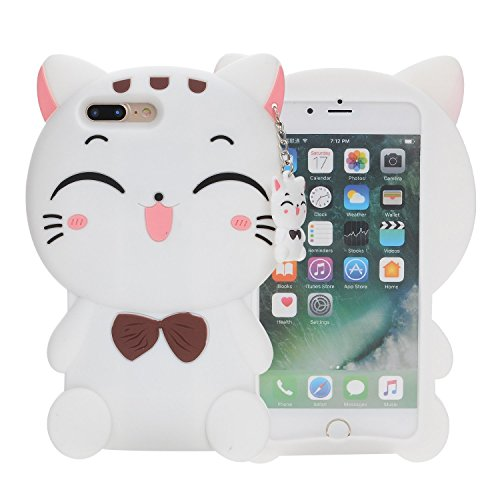 Samsung Galaxy S3 i9300 Silicone Case,Emily Fashion Super Cute 3D Cartoon Character White Fortune Plutus Cat Protective Silicone Back Case Cover for Samsung Galaxy S3 i9300
