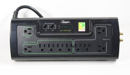 Rocketfish – 10-Outlet Power Manager with Surge Protection and Noise Filtering